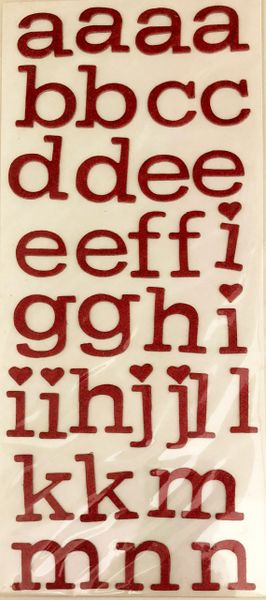 Anna Griffin Chipboard Alphabet Stickers (Valentina Collection)