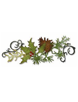 Tim Holtz Alterations Sizzix Festive Greenery Decorative Strip Die