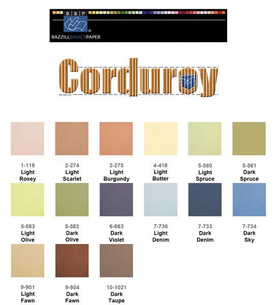 Bazzill Corduroy Cardstock
