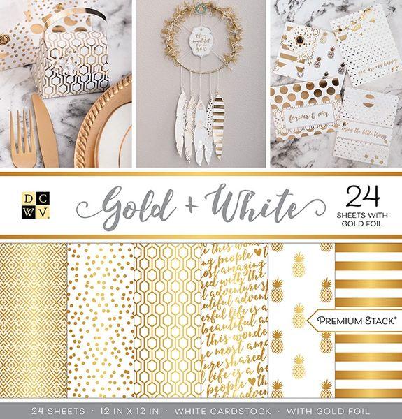 DCWV Gold & White Stack