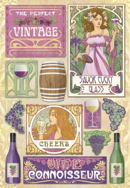 Karen Foster The Perfect Vintage Cardstock Stickers (Winery Collection)