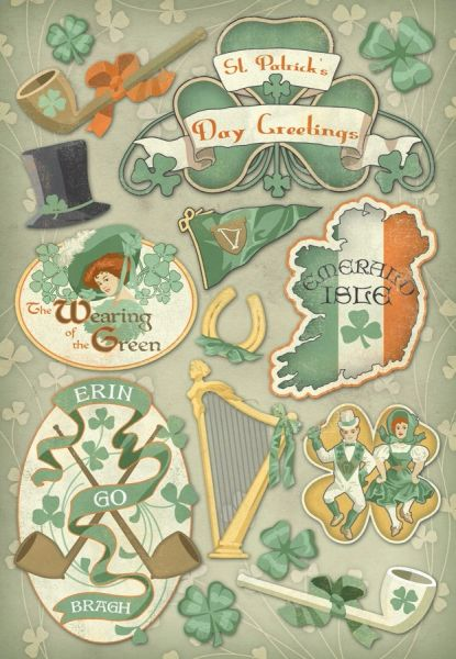 Karen Foster Erin Go Bragh Cardstock Stickers (St. Patrick's Day Collection)