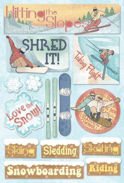 Karen Foster Hitting the Slopes Cardstock Stickers (Winter Sports Collection)