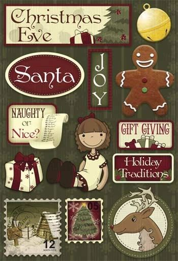 Karen Foster Christmas Eve Cardstock Stickers (Christmas Collection)