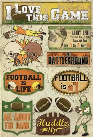Karen Foster Huddle Up Cardstock Stickers (Football Collection)