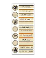 Creative Imaginations Trickery Cardstock Stickers (Harvest Moon Collection)