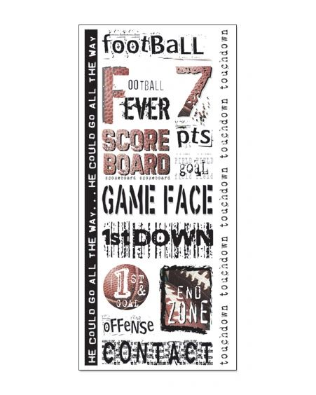 Creative Imaginations Football Clear Stickers