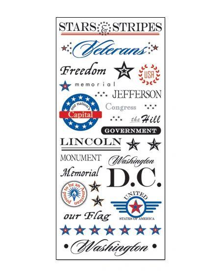 Creative Imaginations Washington DC Clear Stickers