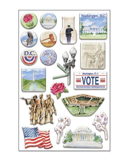 Creative Imaginations Washington DC Epoxy Stickers