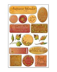 Creative Imaginations Thankful Foil Epoxy Stickers
