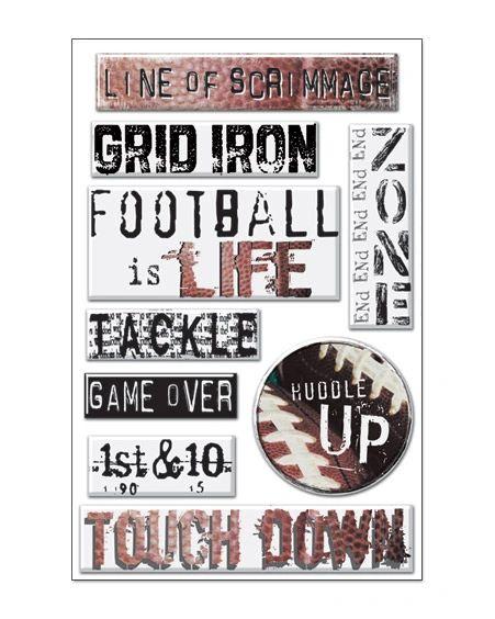 Creative Imaginations Football Epoxy Stickers