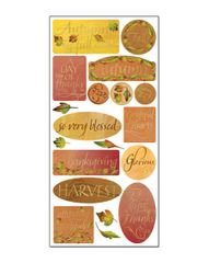 Creative Imaginations Thankful Foil Chipboard Die Cut Stickers