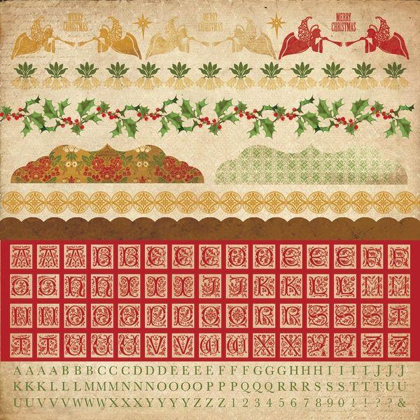 KaiserCraft Alpha Sticker Sheet (December 25th Collection)