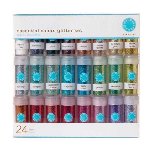 Martha Stewart 24 Vial Glitter Set