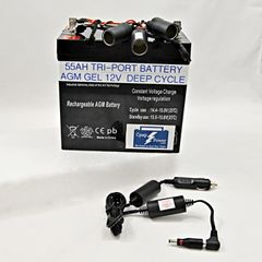 CHGF: ResMed S8 - 55AH Battery and Power Cord 6-12 Nights (Charger Not Included)