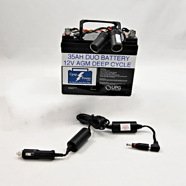 CHDE: ResMed S8 - 35AH Battery and Cpap Power Cord 4-8 Nights (Charger Not Included)