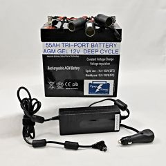 CLGF: ResMed S9 55AH - Battery and Power Converter 6-12 Nights (Charger Not Included)