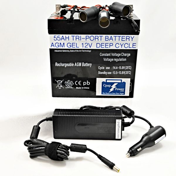 CRGF: ResMed Air Sense 10 or Air Curve 10 Battery and Power Converter 6-12 Nights (Charger Not Included)