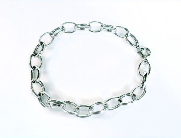 Large Link Sterling Silver Chain Necklace