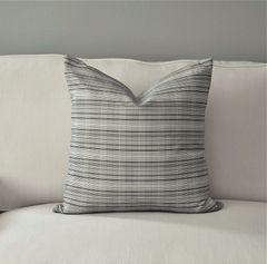 Black and White Matchstick Linen Pillow