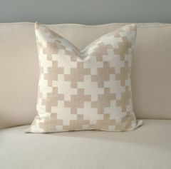 Gold Wash Plush Tweed Pillow
