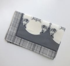 Metallic Medallion Tea Towel--Gray