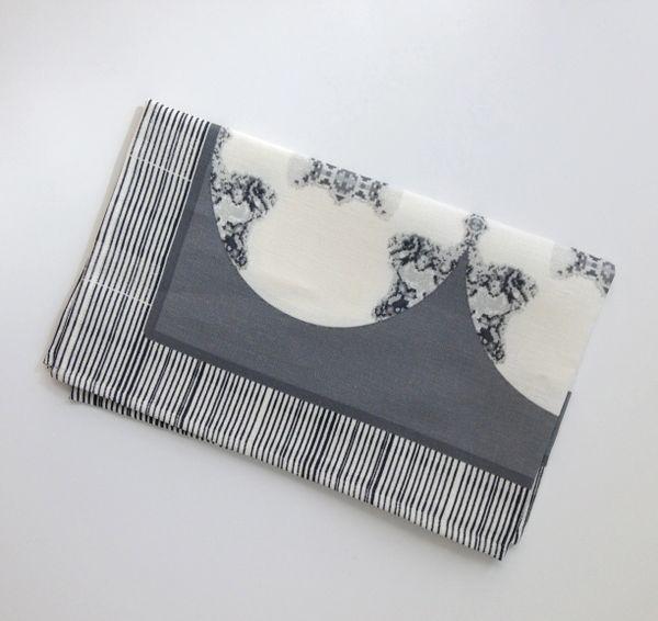 Metallic Medallion Tea Towel--Gray