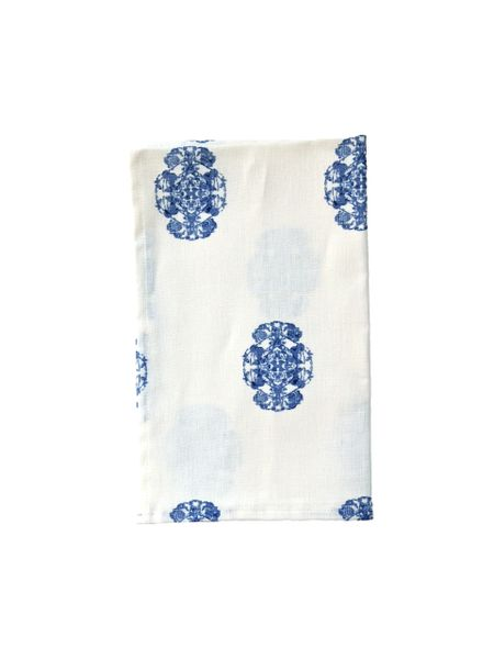 Denim Blue Roco Linen Tea Towel