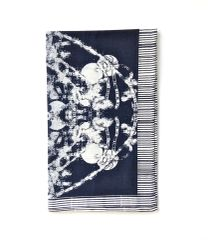 Black Grand Roco Medallion Print Tea Towel
