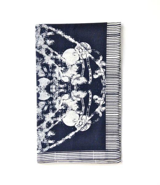 Black Grand Roco Medallion Print Tea Towel