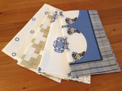 Blue and Gold Collection Tea Towel Set