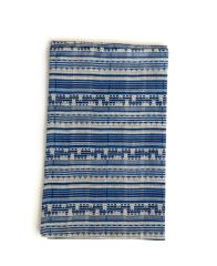 Blue Candy Stripe Natural Linen Tea Towel