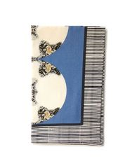 Metallic Medallion Tea Towel--Blue