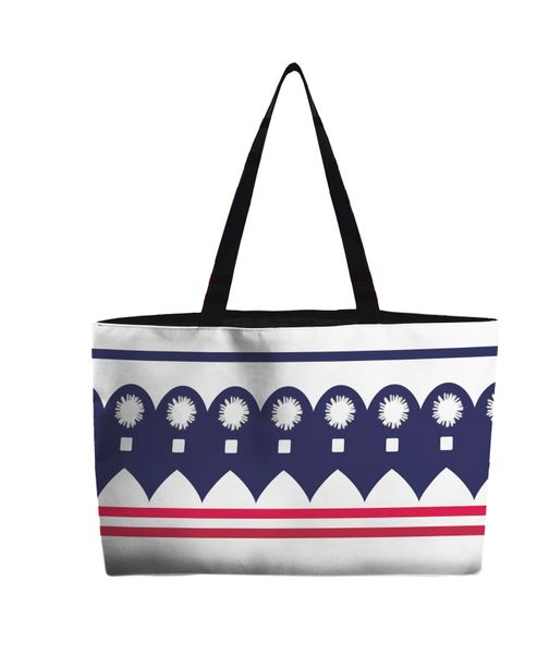 Weekend Tote Bag--Sail Away--Red White Blue