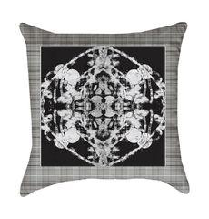 Black Grand Roco Medallion Pillow