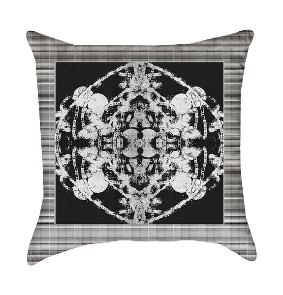 Black Grand Roco Medallion Pillow