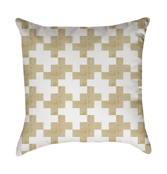 Gold Wash Tweed Linen Pillow