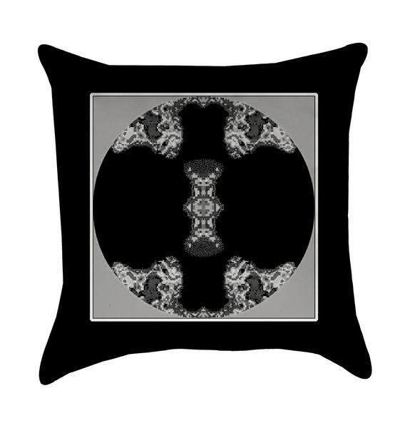 Black Metallic Medallion Pillow
