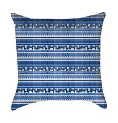 Late Summer Blue Linen Pillow