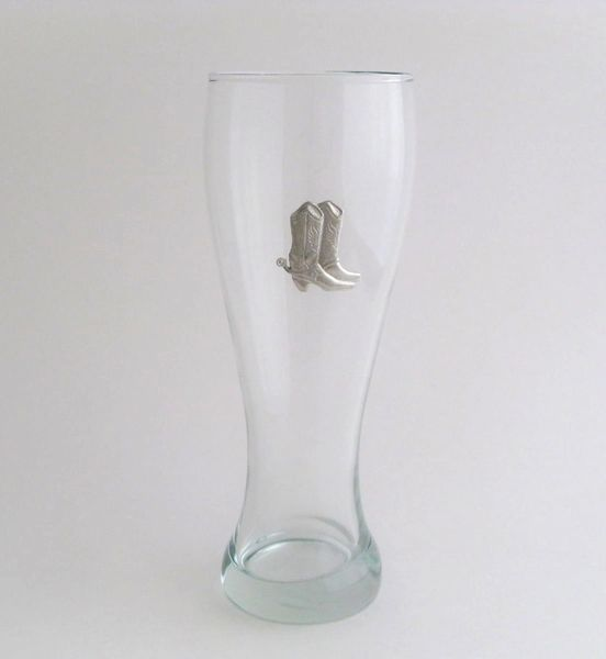 Pilsner Glass with Pewter Boots