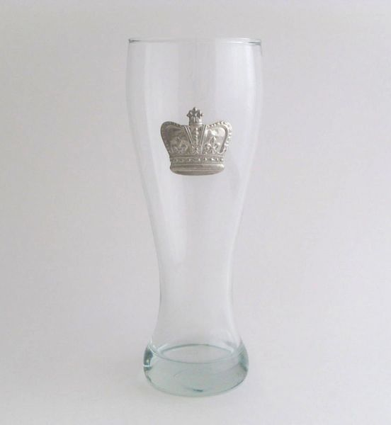 Pilsner Glass with a Pewter Crown