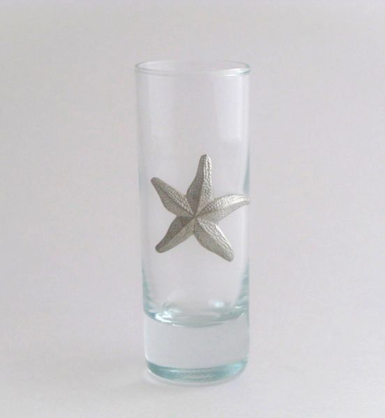Shot/Cordial Glass with Pewter Starfish