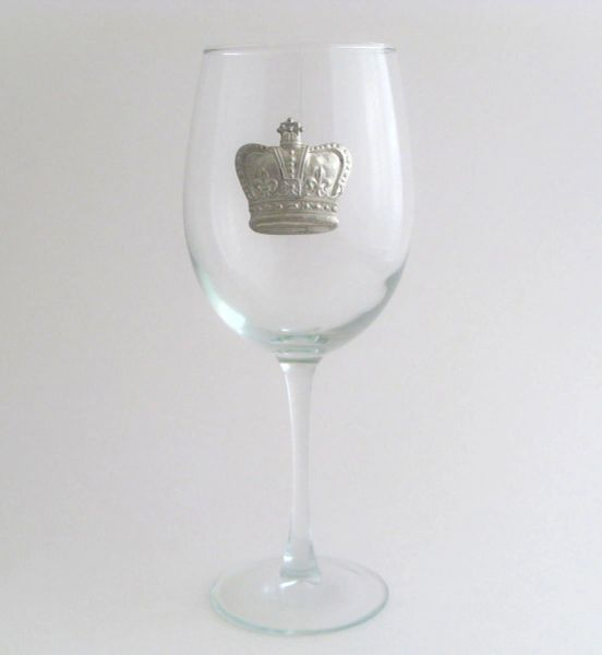 Wine Glass with a Pewter Crown, Set of 4