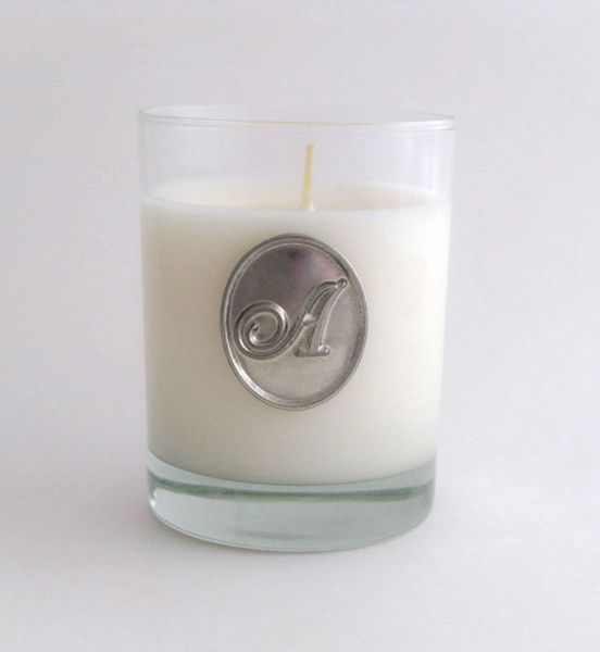 Soy Candle (14 oz.) with Pewter Initial