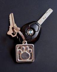 Key Chain with Paw Print