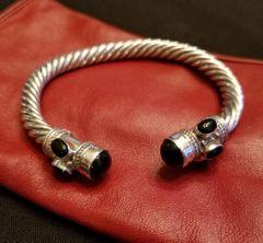Sterling Silver & Black Onyx Cuff Bracelet