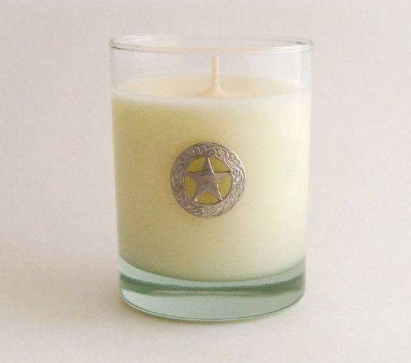 Soy Candle (14 oz.) with Pewter Texas Star