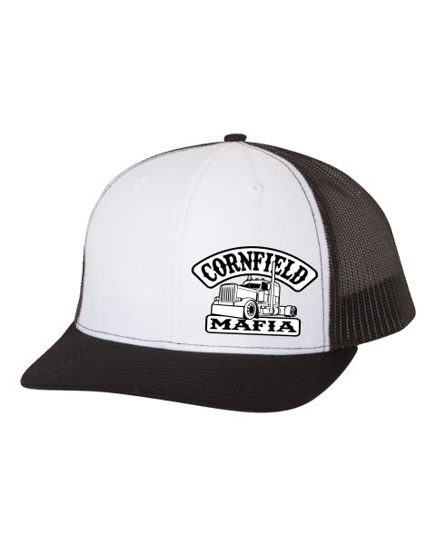 CornField-Mafia Trucker Richardson Hat Black/White