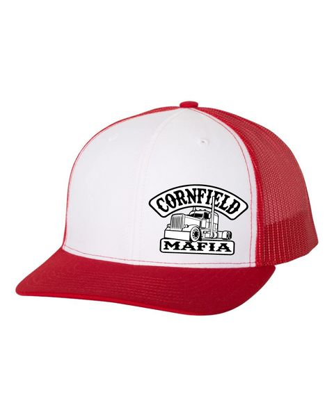 CornField-Mafia Trucker Richardson Hat Red/White