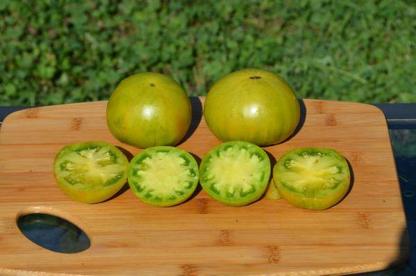 Aunt Ruby's German Organic Tomato Seeds- Green Heirloom- 25+ Seeds